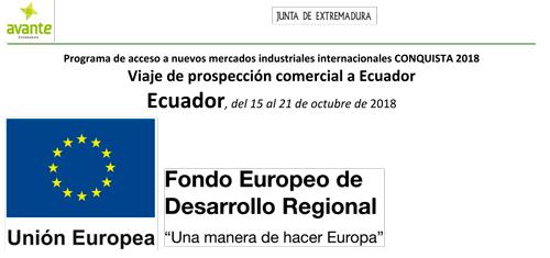 Fondos FEDER Ayeria Ecuador;